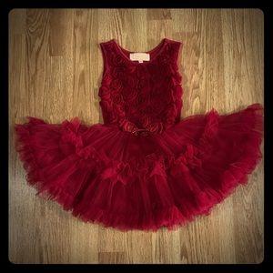 Popatu Red Pageant Wedding Girls Dress